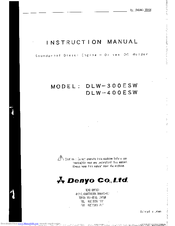 Denyo DLW-400ESW Manuals