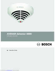 Bosch AVENAR FAP-425 Operation Manual
