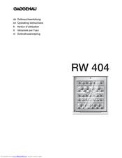 gaggenau rw 404 manuals rh manualslib com Guide Book Pcoket Guide