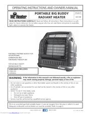 Mr Heater Big Buddy Mh18b Manuals
