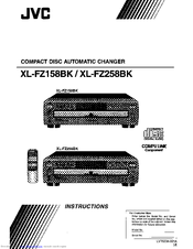 jvc xl fz258bk cd changer manuals rh manualslib com jvc 200 cd changer manual CD Changer JVC X200 CH