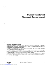 Triumph Thunderbird Manuals