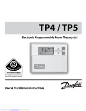 Danfoss tp4 manuals danfoss tp4 user installation instructions manual 85 pages electronic programmable room thermostat cheapraybanclubmaster Gallery