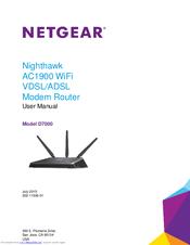 NETGEAR NIGHTHAWK D7000 USER MANUAL Pdf Download