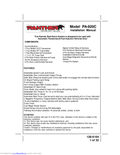 Tr-0011-a panther 300m vhf (136-155 mhz) user manual installation.