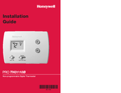 Honeywell PRO TH3110B Installation Manual