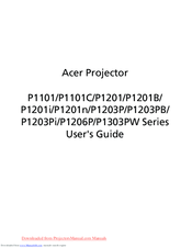 Acer P1201 Series User Manual