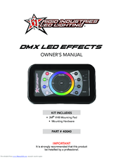 Rigid Industries dmx led effects Manuals