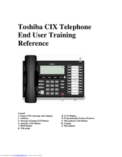 Toshiba CIX User Training Reference