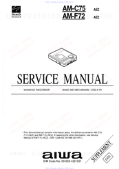 Aiwa AM-C75 Service Manual