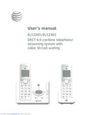 at t el52345 manuals rh manualslib com att cell phone manual at&t telephone dect 6.0 manual