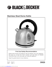 Black & Decker DK25 Use Safety Recommendation