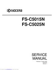 Kyocera Fs c5015n service Manuals