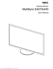 NEC MultiSync EA275UHD User Manual