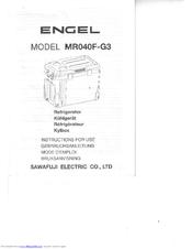 Engel MR040F-G3 Manuals