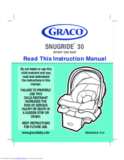 graco snugride 30 instruction manual pdf download rh manualslib com Graco Weathershield Pink and Brown Graco Car Seat