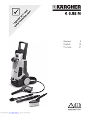 Karcher K 6.85 M Assembly And User Instructions Manual