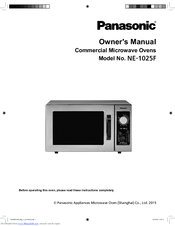 Panasonic NE-1025F Manuals
