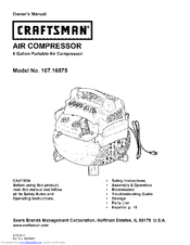 Craftsman 107.16575 Owner's Manual