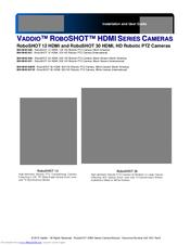 Vaddio RoboSHOT 12 HDMI Manuals