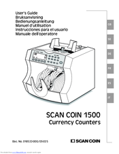 Scan Coin SC 1500 IR Manuals