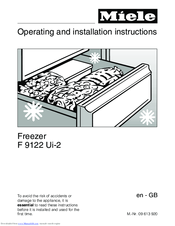 Miele F 9122 Ui-2 Operating Instructions Manual