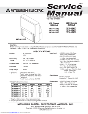 mitsubishi electric ws 55313 manuals rh manualslib com Mitsubishi TV Replacement Parts 55-Inch Mitsubishi Projection TV