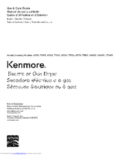 Kenmore 75203 Use & Care Manual