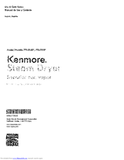 Kenmore 796.91582410 Use & Care Manual