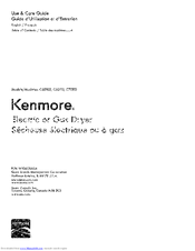 Kenmore C60112 Use & Care Manual