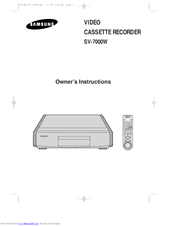 Samsung SV-7000W Owner's Instructions Manual