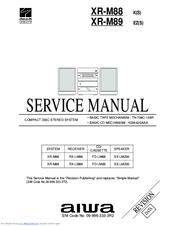 aiwa xr m89 manuals