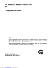 HP A5800 Series Configuration Manual
