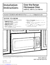Ge Jvm3160 Installation Instructions Manual