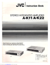 JVC A-K11 Instruction Book