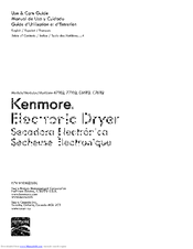 Kenmore C76112 Use & Care Manual