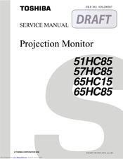 toshiba theaterwide 57hc85 manuals rh manualslib com Toshiba Satellite Service Manual Toshiba W603 Service Manuals Model