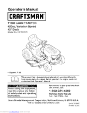 Craftsman T1200 247.203771 Operator's Manual