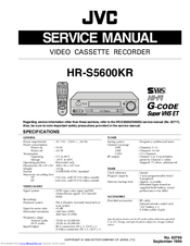 JVC HR-S5600KR Service Manual