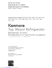Kenmore 253.70609410 Use & Care Manual