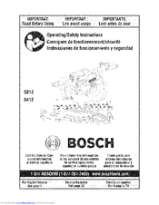 Bosch 5312 Operating/Safety Instructions Manual