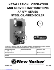 new yorker ap 490u installation, operating and service instructions boiler gas valve wiring new yorker ap 490u installation, operating and service instructions pdf download