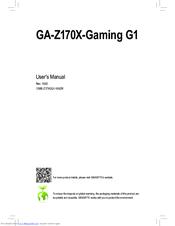 gigabyte ga z170x gaming g1 manuals rh manualslib com Repair Manuals Service Manuals