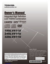 Toshiba 24SLV411U Owner's Manual