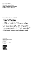 Kenmore 665.13282K118 Use & Care Manual