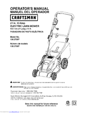 Craftsman 138.37097 Operator's Manual