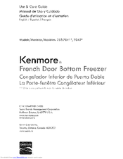 Kenmore 25370413410 Use & Care Manual