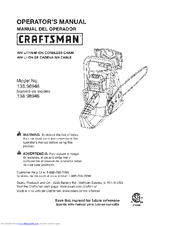 Craftsman 138.98946 Operator's Manual