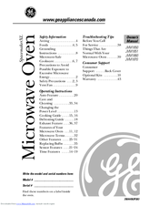 Ge Spacemaker Xl Jvm1850 Manuals