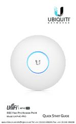 UBIQUITI UNIFI UAP-AC-PRO QUICK START MANUAL Pdf Download